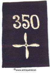 WW I US 350th AERO SQUADRON ENLISTED SLEEVE INSIGNIA