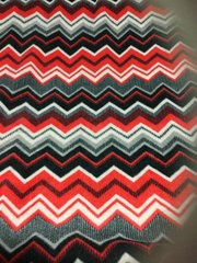 Red & Gray Chevron