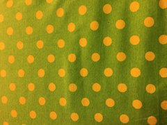 Lime Dots - cotton