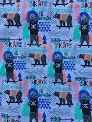 Skateboarding Bears - cotton