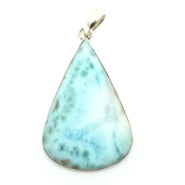 Larimar pendant with sterling silver 102 jade and uniquely hand larimar pendant with sterling silver gem stone from the dominican republic 102 aloadofball Gallery