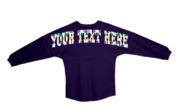 custom made boxercraft pom pom jersey  shoulder to shoulder text of your choice and front pocket