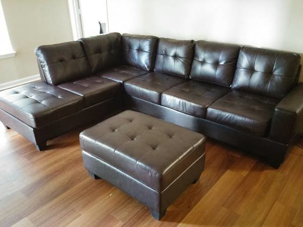 2300 brown leather sectional storage ottoman discount for Affordable furniture atlanta