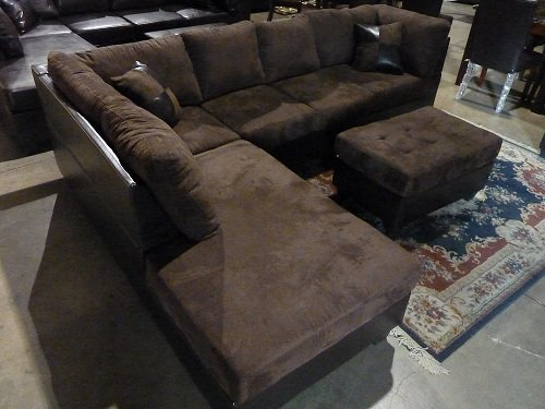 sofa ottoman arm w left with chaise wleft sectional storage profile and low leather red p microfiber faux