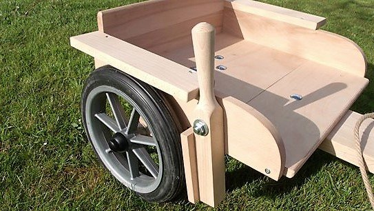 Traditional Pine Wood Hand Brake The Wooden Go Kart Shop