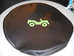 Monogram Spare Tire Cover Lime Green Jeep