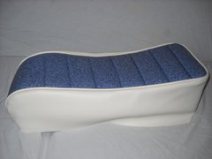 Mini Bike Seat Upholstery Tuck N Roll Old School Blue With White Sides