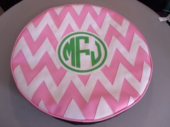 Chevron Monogram Spare Tire Cover CB MFJ