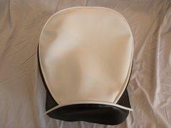 Baja Warrior Heat Mini Bike Seat Upholstery White With Black Sides