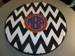 Chevron Monogram Spare Tire Cover CB MBA