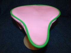 Beach Cruiser Seat Upholstery Light Pink And Lime Green