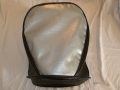 Baja Warrior heat Mini Bike Seat Upholstery Silver With Black Sides