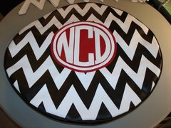 Chevron Monogram Spare Tire Cover CB NCD