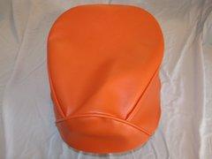 Baja Warrior heat Mini Bike Seat Upholstery Black With Orange Sides