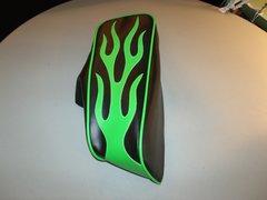 Mini Bike Seat Upholstery Lime Green Flames