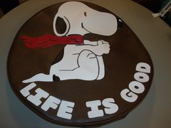 Monogram Spare Tire Cover Snoopy Life Is Good