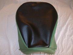 Baja Warrior heat Mini Bike Seat Upholstery Black With Olive Green Sides