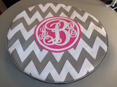 Chevron Monogram Spare Tire Cover SC ABE