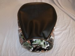 Baja Warrior heat Mini Bike Seat Upholstery Black With Green Snow Camo Sides