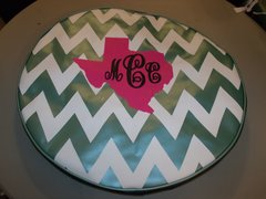Chevron Monogram Spare Tire Cover Big Texas MCC
