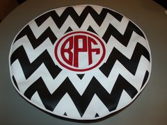Chevron Monogram Spare Tire Cover CB BPF