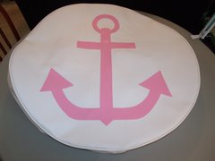 Monogram Spare Tire Cover Light Pink Anchor
