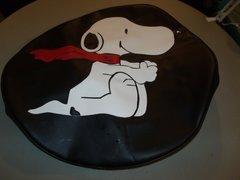 Monogram Spare Tire Cover Snoopy Black Trim