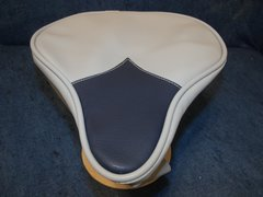 Beach Cruiser Seat Upholstery Light Gray And Navy Blue