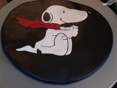 Monogram Spare Tire Cover Snoopy Blue Trim