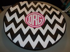 Chevron Monogram Spare Tire Cover CB DRG