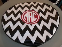 Chevron Monogram Spare Tire Cover CB MAC