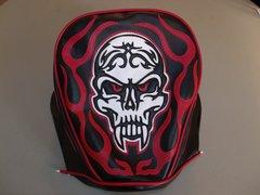 Baja Warrheat Mini Bike Seat Upholstery Skull And Flames