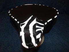Beach Cruiser Seat Upholstery Black And Zebra