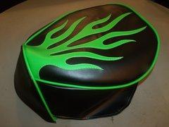 Baja Warrior Mini Bike Seat Upholstery Flames 1