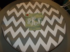 Chevron Monogram Spare Tire Cover Arkansas Love PKN