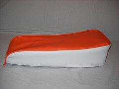 Mini Bike Seat Upholstery db30 Orange With White Sides