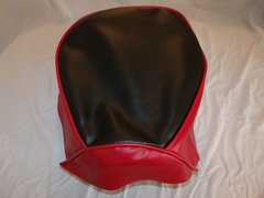 Baja Warrior heat Mini Bike Seat Upholstery Black With Red Sides