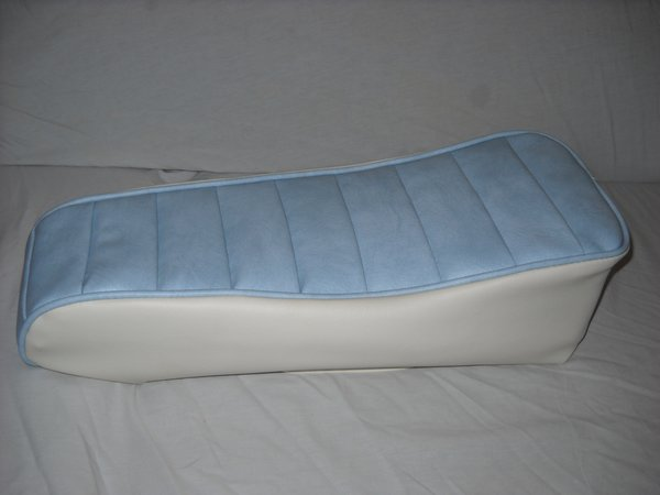 Mini Bike Seat Upholstery Tuck N Roll Light Blue And White Sides Lxmboutique Spare