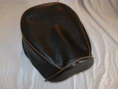Baja Warrior heat Mini Bike Seat Upholstery Black With Brown Trim