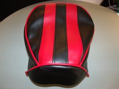 Baja Warrior Mini Bike Seat Upholstery with Stripes and Trim