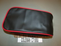 Coleman CT100U Mini Bike Black With Red Trim Seat Upholstery
