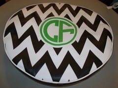 Chevron Monogram Spare Tire Cover CB CF
