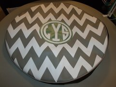 Chevron Monogram Spare Tire Cover CB LYS