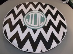 Chevron Monogram Spare Tire Cover CB JDC