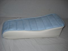 Mini Bike Seat Upholstery Tuck N Roll Light Blue And White Sides