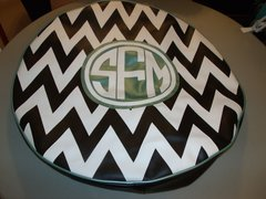 Chevron Monogram Spare Tire Cover CB SFM