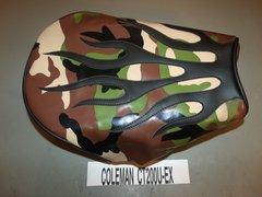 Coleman CT200U-EX Mini Bike Seat Upholstery Jungle Camo Flames