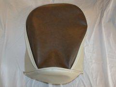 Baja Warrior heat Mini Bike Seat Upholstery Dark Brown With Tan Sides