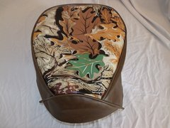 Baja Warrior heat Mini Bike Seat Upholstery Camo Brown Leaf with Brown Sides