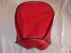 Baja Warrior heat Mini Bike Seat Upholstery Red With Black Trim